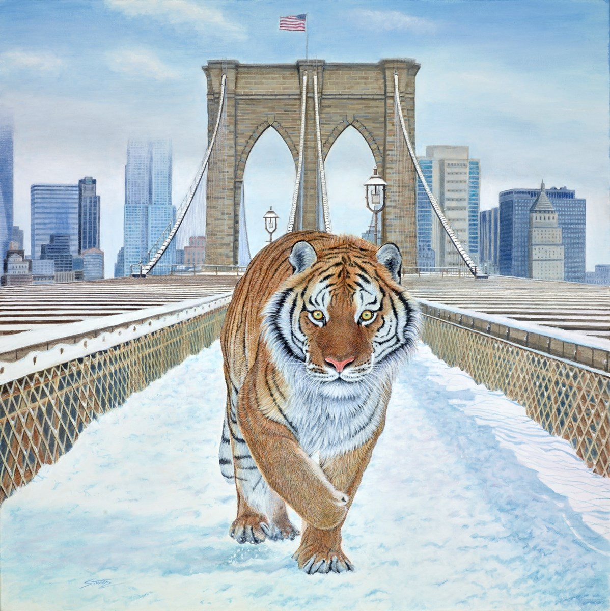 Winter's Tail of New York by steve tandy -  sized 24x24 inches. Available from Whitewall Galleries
